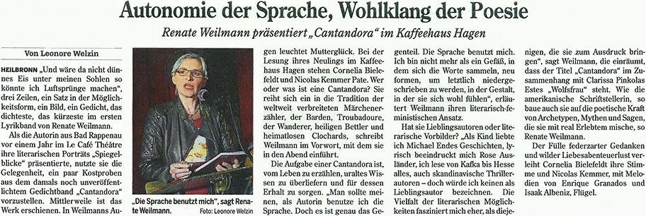 Heilbronner Stimme Auszug vom 23. April 2015